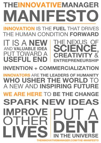 The Innovative Manager Manifesto