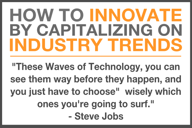 how to innovate by capitalizing on industry trends