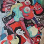 Abstract Painting of Bodies