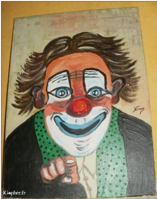 Peinture Sur Toile Dun Clown Signe Ninon IGopherfr