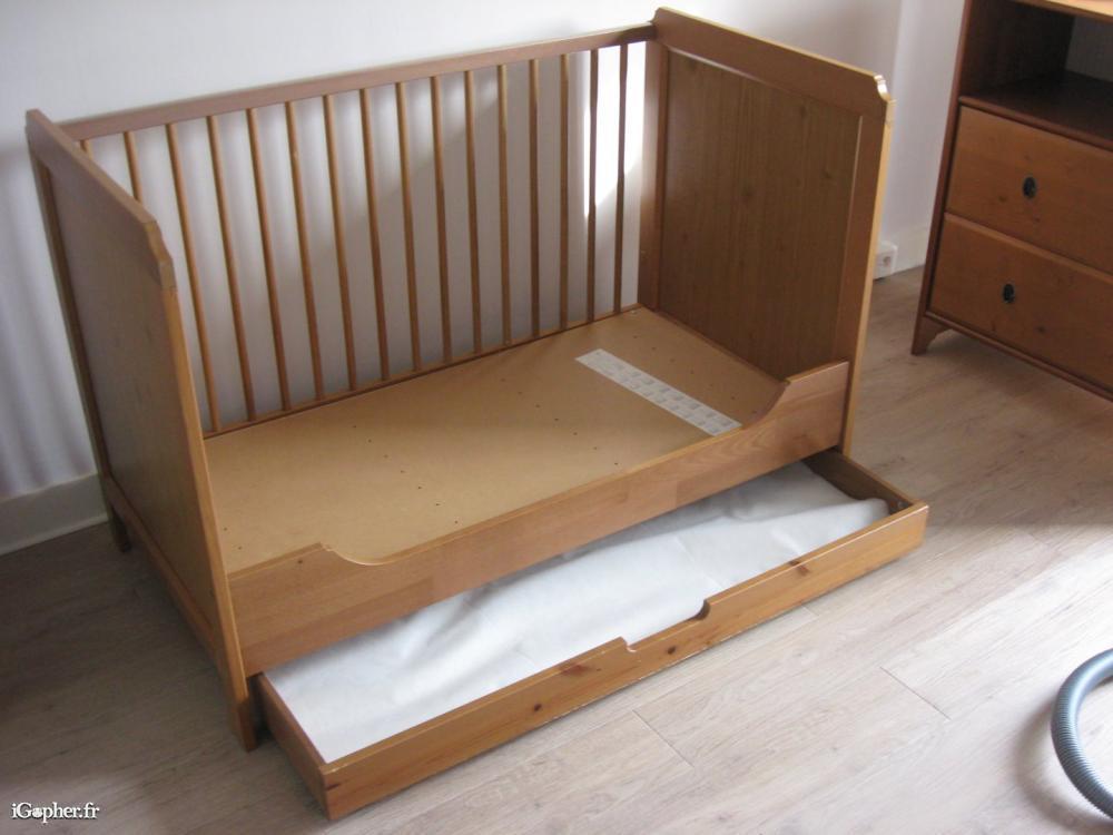 lit bebe ikea avec tiroir leksvik