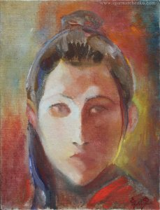 portrait_Lesa_canvas_fiberboard_oil