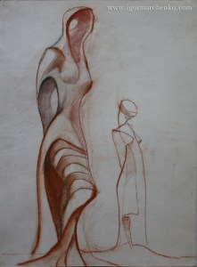 two_women_sanguine_pencil