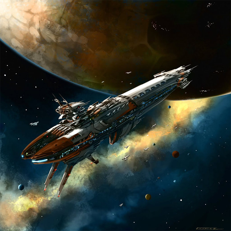 Image result for space ships in orbit