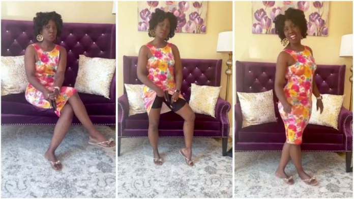 beautiful lady display on social media how she hides gun between her thighs