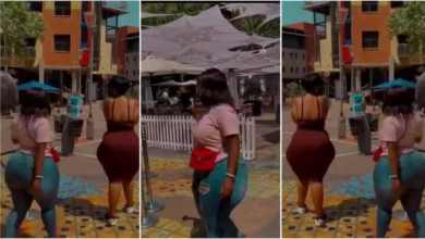 South African ladies causes commotion on the street