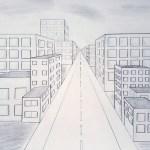 Stadtansicht In Zentralperspektive Kunst In Klassenstufe 9 Igs Morbach