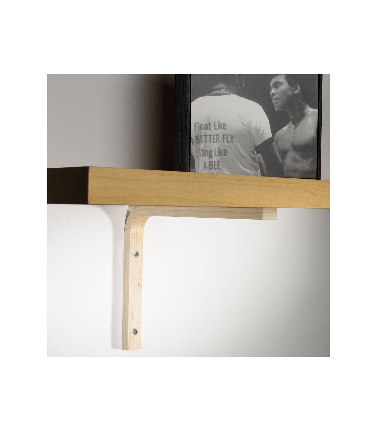 support en bois pour etagere bois elle