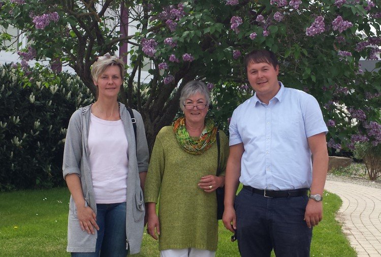 Frau Weissenborn, Frau Ravoir und Herr Illner.