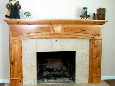 Alpine Fireplace Mantel Iguana Art & Design