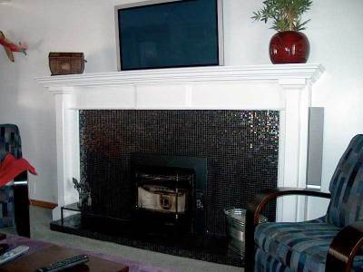 bayside fireplace mantel Iguana Art & Design