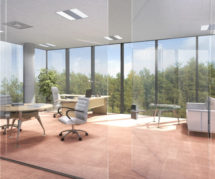 The technology can be used to make windows that can generate energy for the office