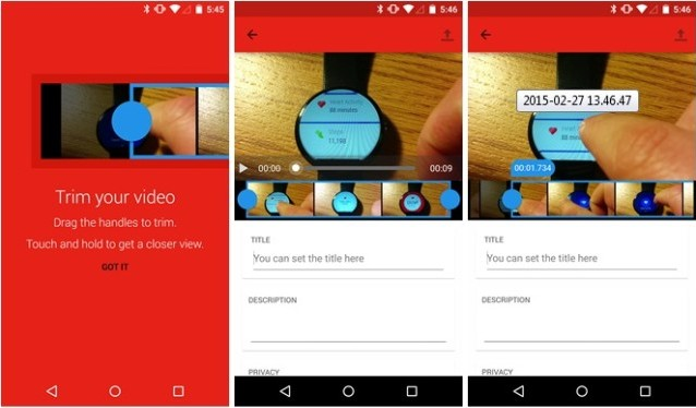 Youtube-trim on-Android