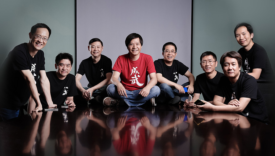 Xiaomi Founding Team with Mr. Mr. Jun Lei (in red).