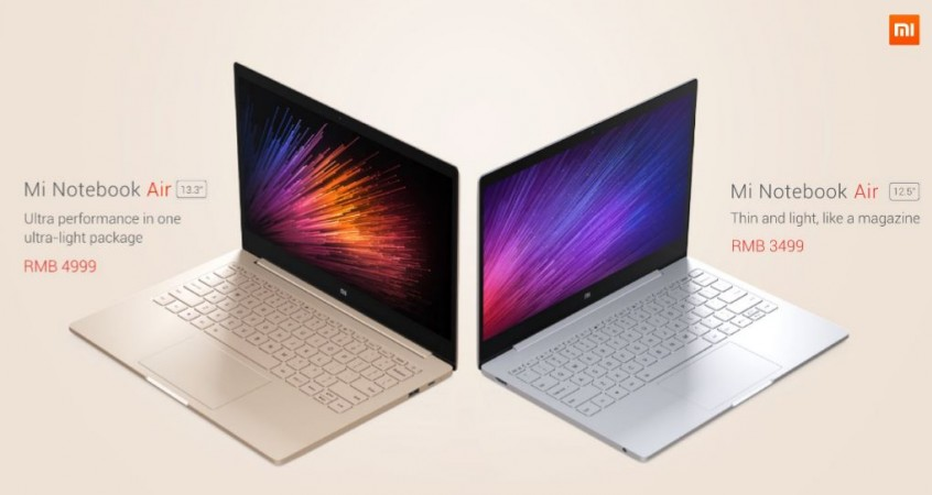 mi notebook air options