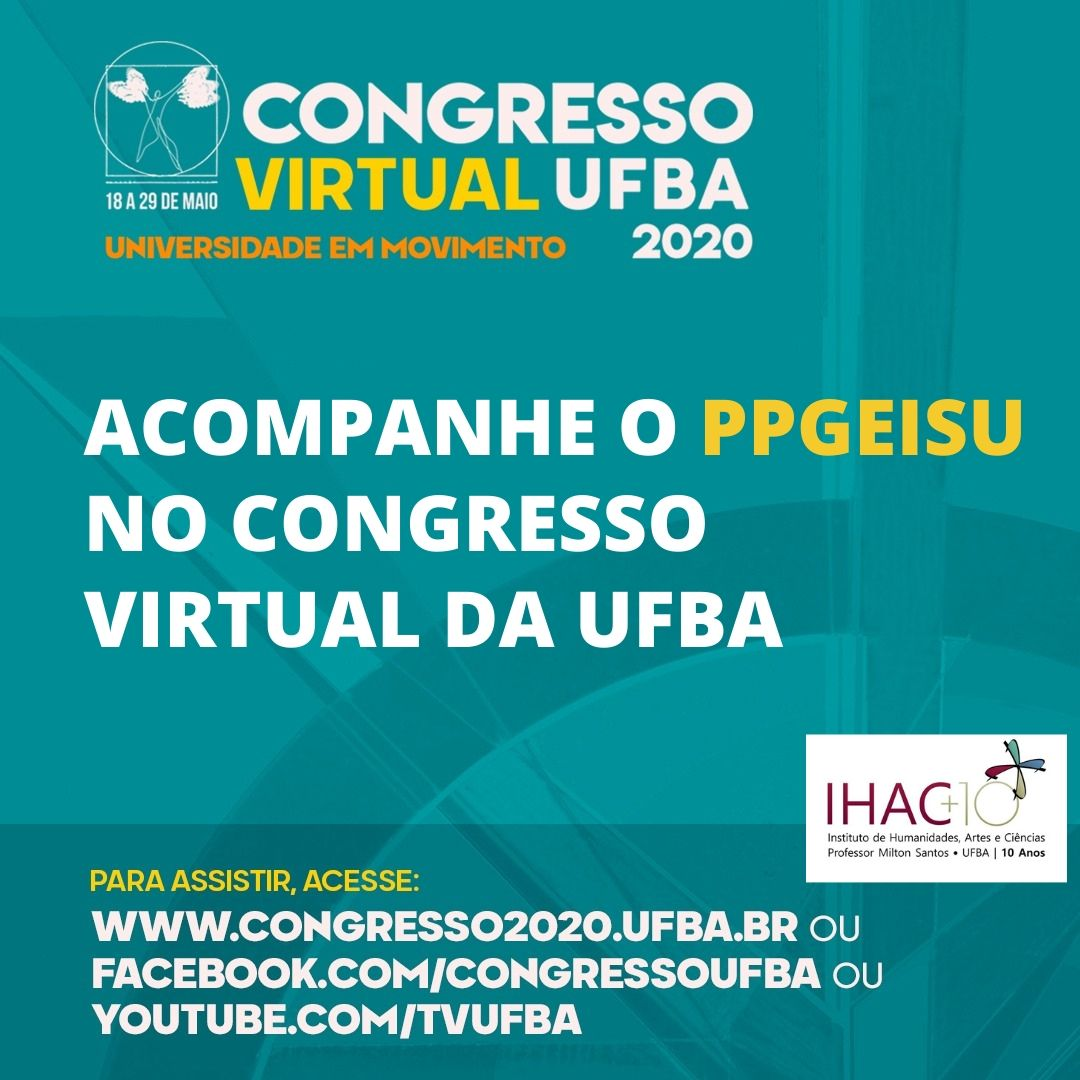 PPGEISU no Congresso Virtual da UFBA