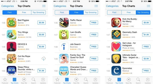 Apple Reduces Top Charts On Ios From 300 To 150 Apps Ihash