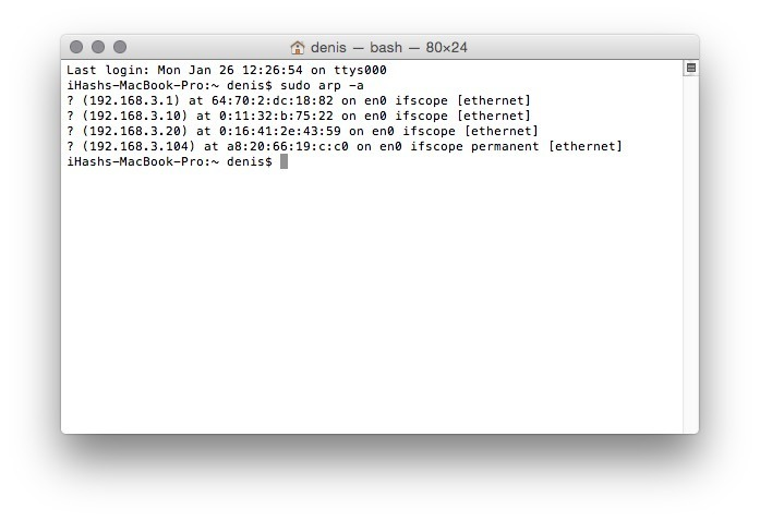 How To Clear or Flush ARP Cache in OS X Yosemite - iHash