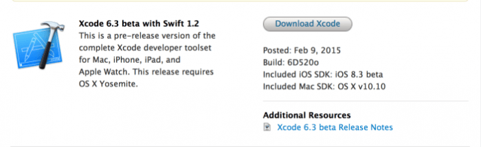 Apple Releases Xcode 6 3 Beta With Swift 1 2 to Developers
