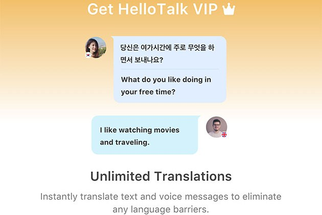 HelloTalk VIP: Lifetime Subscription for $29