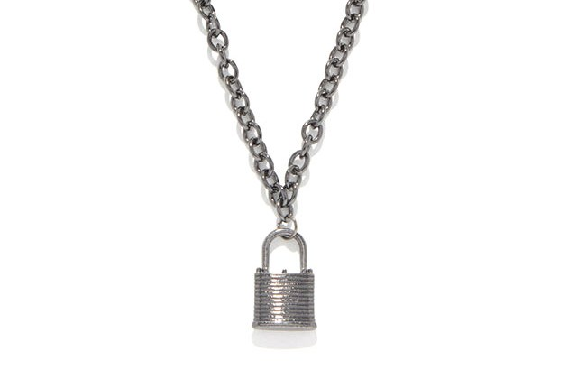 Padlock Chain Necklace for $9