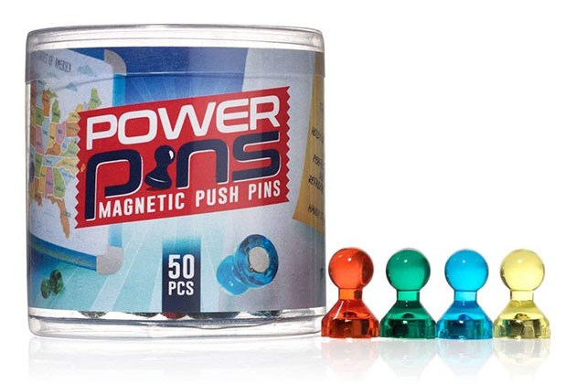 Power Pins Push Pin Magnets (50-Pack) for $15