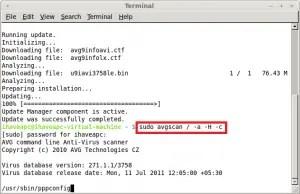 Running AVG Anti-Virus Scanner In Linux