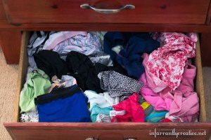 Just toss all the underwear in one drawer. Who wants to fold underwear?