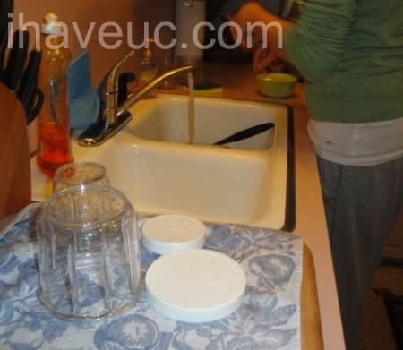 clean the yogurt maker cups first