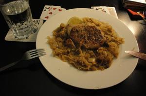 sauerkraut pork chop