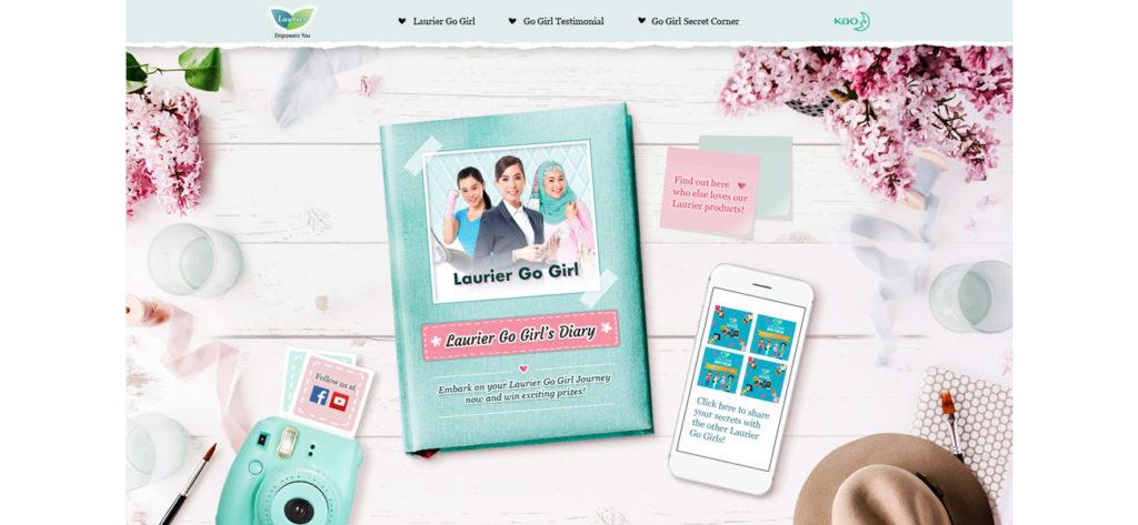 Screen grab of the Kao Laurier Microsite  - Web Design & Development