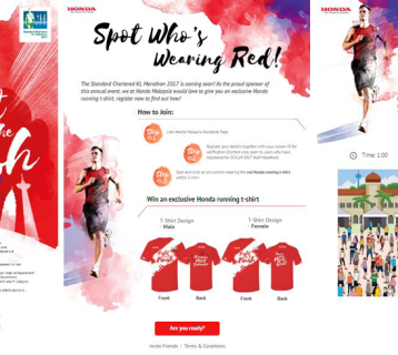 Content Marketing: Spot Who's Wearing Red with Honda Malaysia