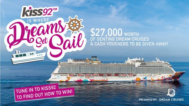Kiss92 is giving their fans a chance to let their dreams set sail on Dream Cruises. Find out how the Facebook App helps in this online marketing campaign!