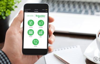 Schneider Electric Improves B2B Marketing with WeChat App