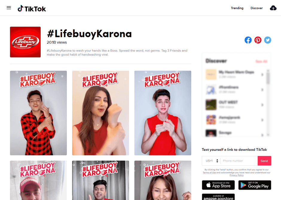 Archive of all #LifebuoyKarona hashtag videos on TikTok