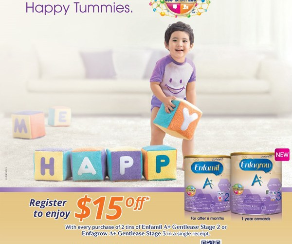 Print Ad for Enfagrow Happy Tummies - Creative Services