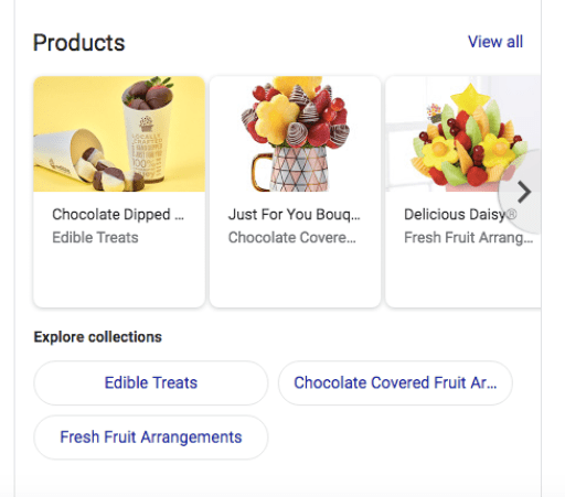 Google Business E-commerce products