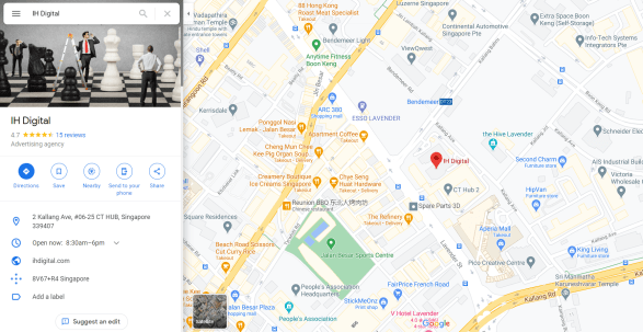 Google Business Listing in Maps