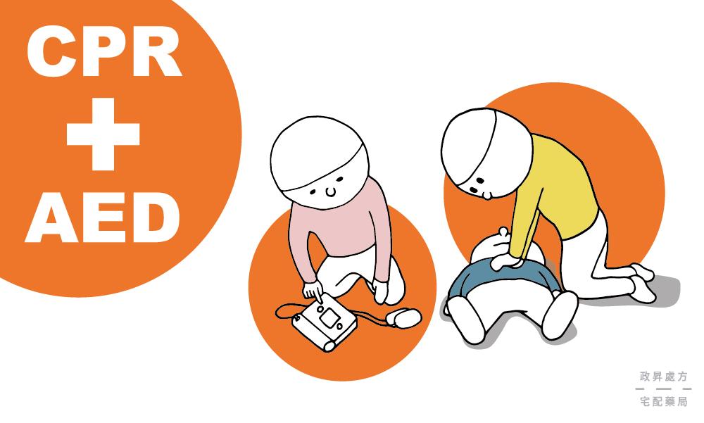 CPR與AED的動作示意