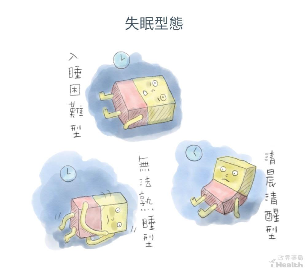 3 種常見失眠型態