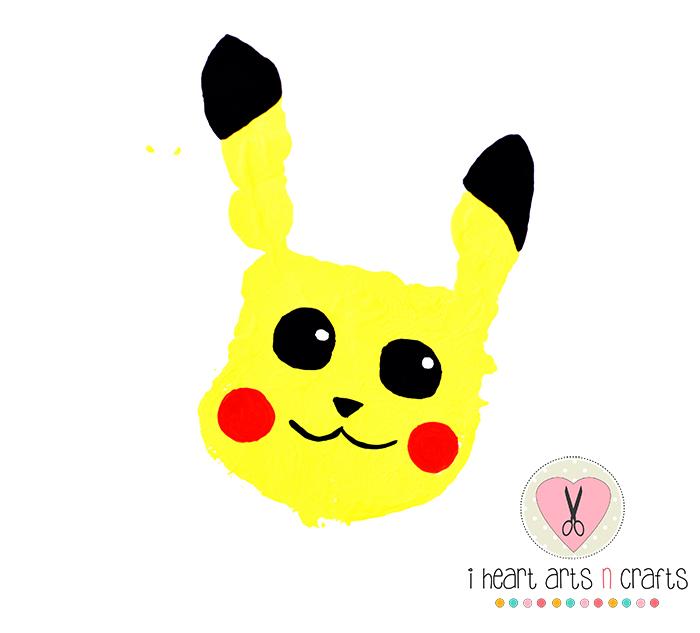 Pokemon Handprint Valentines Day Kids Craft I Heart