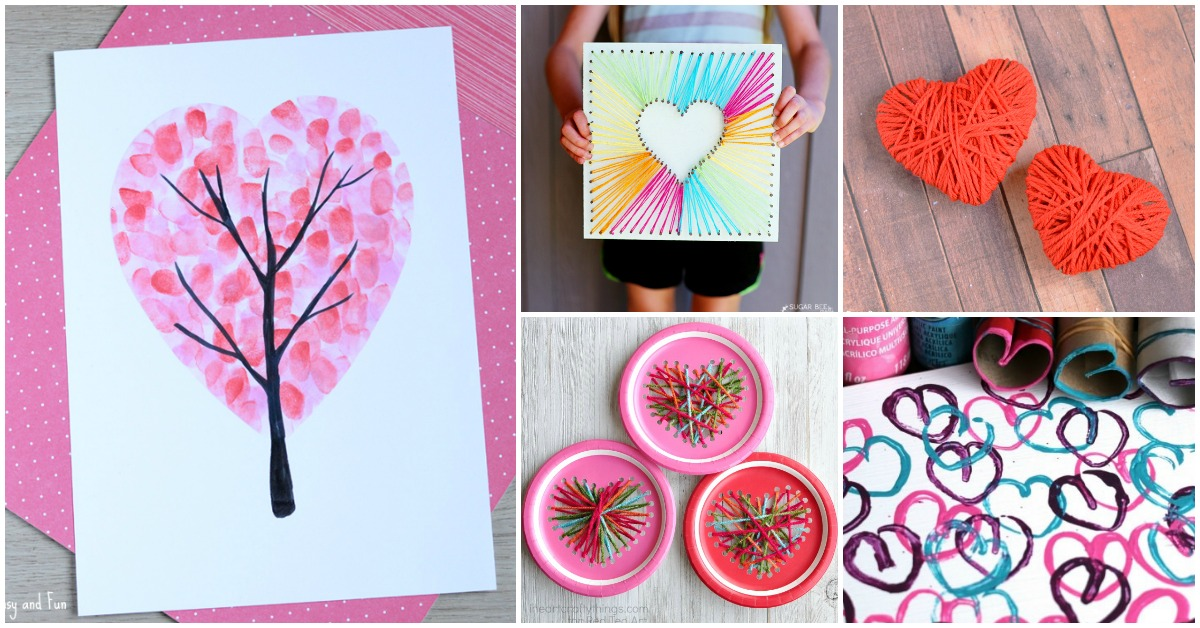 14 Valentines Day Heart Crafts For Kids I Heart Arts N