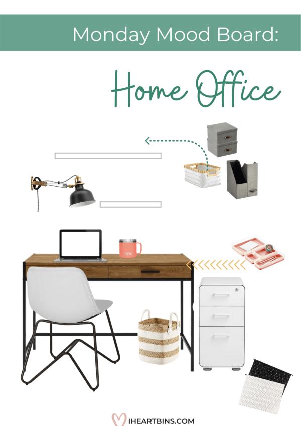 Mood Board Monday: Home Office Organization