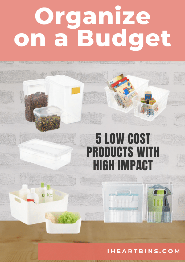 Organize on a Budget: 5 Low Cost Products with High Impact