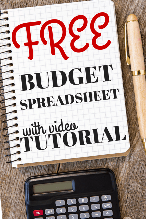 Budget Spreadsheet Tutorial