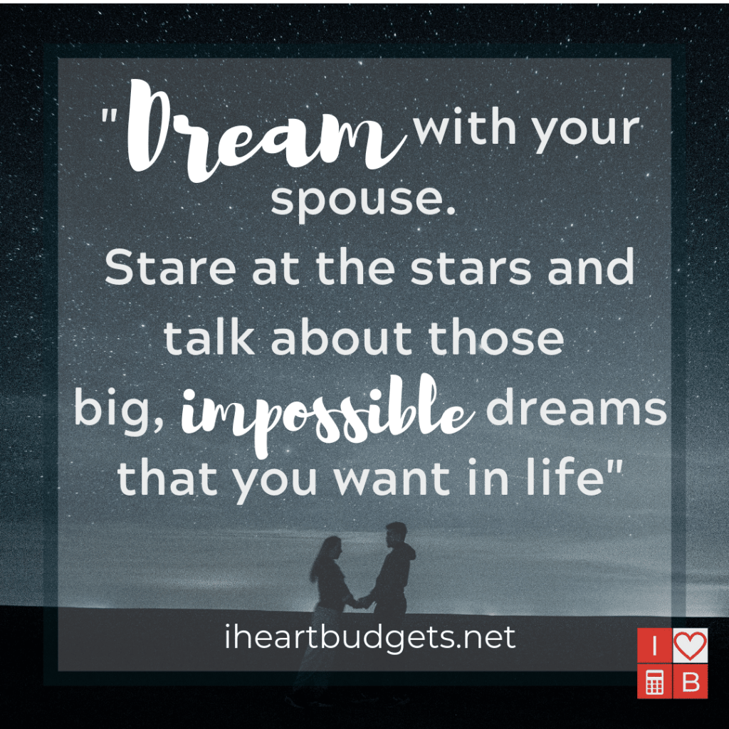 Dream Big - iHeartBudgets.net