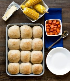 30 Minute Honey Wheat Rolls