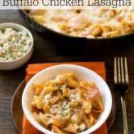 One-Skillet Buffalo Chicken Lasagna