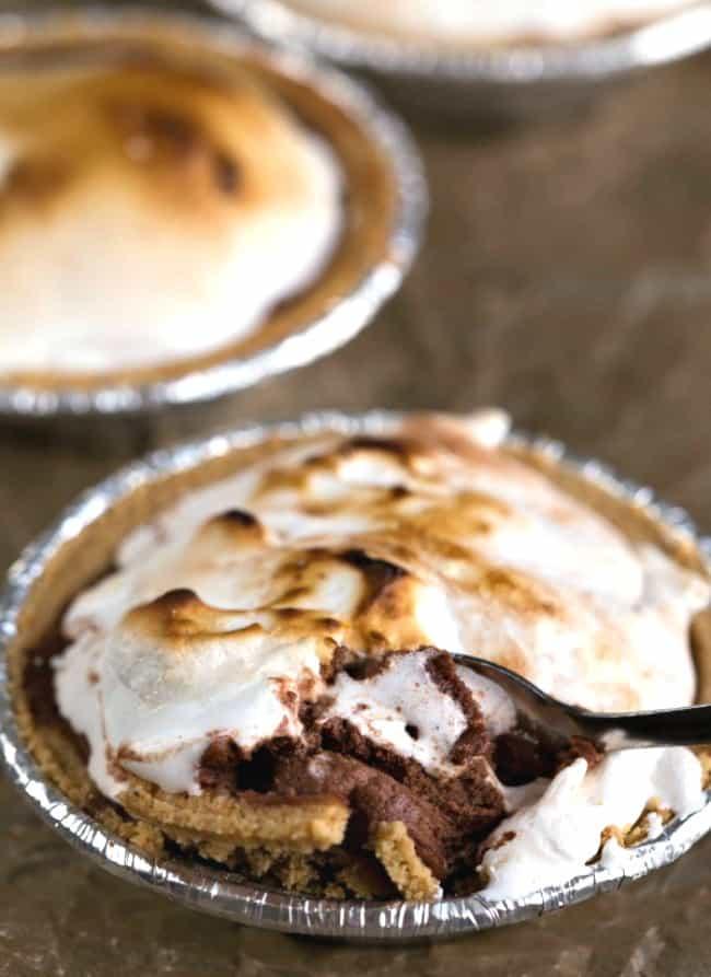 Frozen S'mores Pie