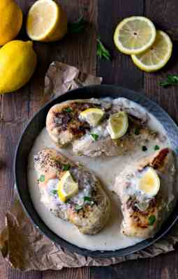 Creamy Crock Pot Lemon Chicken
